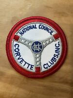 NEW! Vintage National Council of Corvette Clubs Embroidered Patch