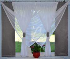 NUEVO VENTANA 180cm Cortina COMPLETO Decoración Salón Blanco Gris FLY 00612