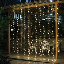 Salcar LED Lichtervorhang 3x3m wasserdicht Ip44 Sterne Lichterkette