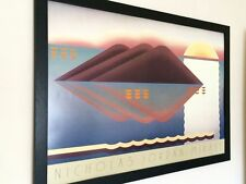 Abstract wall art -61x91cm, vintage 80's art,  lithograph art, Nicholas Jordan
