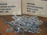 P38 Can Opener 100 Pack Army Military USMC Made USA Stainless f Mess Kit Scout