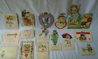 Lot of 15 Vintage Antique Valentines Lot #3 - No Votes No Hearts Suffragettes