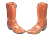 NOCONA L106 Vintage Womens Cowboy Boots Black Leather Size 5.5c Made in Texas