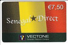 FRANCE  TELECARTE / PHONECARD  PREPAYEE .. 7€50 VECTONE SENEGAL DRAPEAU 12/04+N°