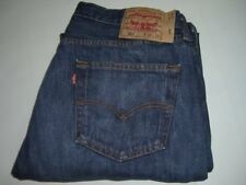 Levi's da uomo Strauss & co.501 blu scuro denim jeans w36 L30