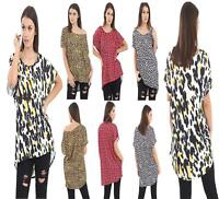 Short Sleeve Ladies Womens Leopard Print Baggy Oversized Loose Fit  Top T shirt