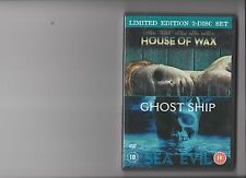 GHOST SHIP / HOUSE OF WAX DVD LIMITED EDITION 2 DISC SET HORROR RATED 18