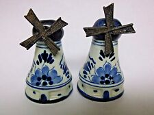 Vintage Windmill Salt and Pepper Shakers Holland