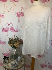 Phase Eight Lagenlook Loose White Sheer Batwing Top 16 Casual Holiday