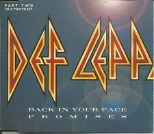 DEF LEPPARD Back in your Face UNRELEASED TRK Europe CD Single SEALED USA seller