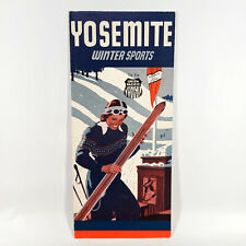 1941 Yosemite National Park Vintage Travel Brochure Winter Sports Skiing Ski