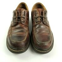 Johnston & Murphy Men's Size 10M Dark Brown Leather Dress Work Shoes GUC