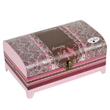 "Cottage Garden Paisley Trunk Belle Papier Music Box ""Wind Beneath My Wings"""