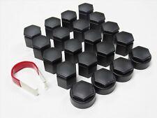 VAUXHALL ASTRA MOKKA INSIGNIA ZAFIRA WHEEL NUT BOLT COVERS LOCKING CAPS BLACK