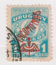 (UGA-191) 1946 Uruguay 1p blue Parcel post red O/P(A)