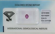 Sealed 0.64ct Pink Sapphire Oval Mixed Cut Certificated REF:54