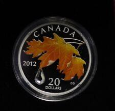 2012 Canada $20 Fine Silver: Crystal Raindrop