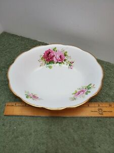 9 14 Royal Albert American Beauty Oval Vegetable Bowl Pink Cabbage Rose China