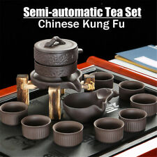 Chinese Real Zisha Purple Clay Tea Set Oriental China Tea Set 11Pcs Tea Pot Cups