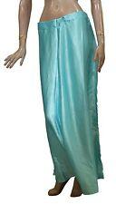 Blue Satin Indian saree Petticoat Underskirt belly dancing Lehanga slip
