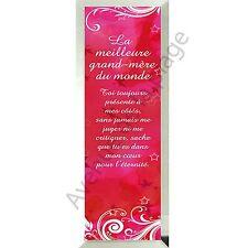 """Miroir message """"La Meilleure Grand-Mère du Monde"""" en verre idée cadeau neuf"""