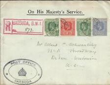 Leeward Islands SG#59(x2-faults)#60,#67 BARBUDA SE/2/29 OFFICIAL-Post Office
