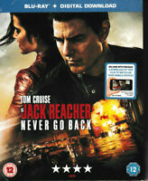 Jack Reacher - Never go Back - Blu Ray + Digital Download - Brand New & Sealed