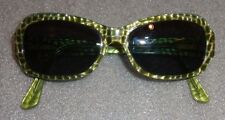 Woman's Jean Lafont green lizard sunglasses prescription lenses