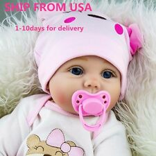 22'' Lifelike Newborn Silicone Vinyl Reborn Baby Dolls Girl Gift -Ship from USA