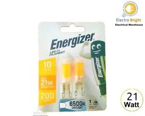 Energiser 2-6 Pack G 9 LED Filament 2 W = 21 W DAYLIGHT CAPSULE LIGHT BULBS👀