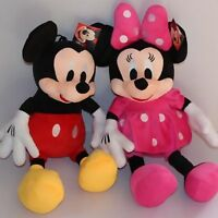 2PC 28CM DISNEY MICKEY & MINNIE MOUSE SOFT DOLL PLUSH KID BABY STUFFED GIFT TOY