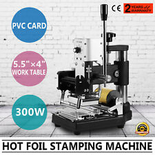 Hot Foil Stamping Machine Paper Leather For ID PVC Cards Stainless Steel Emboss
