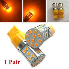 1Pair Universal Car Amber LED Light 7443 7440 92SMD 1206 Chip Light Bulbs T20
