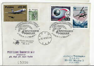Poland, Aerospace cover. 1988 60th anniv. of flying generations.cxls (PA30)