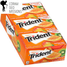 Trident Tropical Twist Sugar Free Gum - with Xylitol - 12 Packs (168 Pieces...