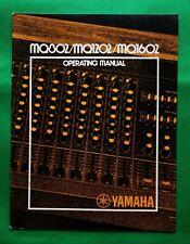 Yamaha Mq802 Mq1202 Mq1602 Operating Manual