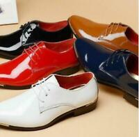Men's Patent Leather Lace Up Formal Business Casual Party Wedding Dress Shoes SZ