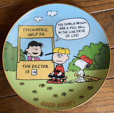 2006 Danbury Mint Peanuts Plate Good Grief! Charlie Brown Lucy Snoopy Baseball