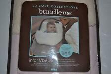 JJ COLE COLLECTION BUNDLEME INFANT PLUSH CARRIER LIGHT PINK NEW BUNDLE ME
