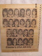 1974 Evansville Courier Newspaper All-City High School Football Team IN W/Photos