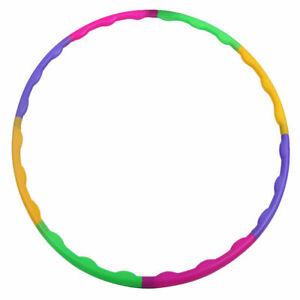 2 Stück Hula Hoop Reifen Kinder Bunt Mädchen Steckbar Sport Fitness Spielzeug 2x