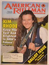 Magazine American Rifleman, MARCH 1997 ROSSI Model 62 SA RIFLE & 62 SAC CARBINE