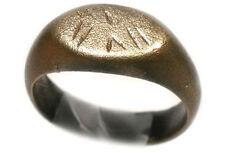 Roman Celtic Provincial Noricum (Austria) Legionary Eagle Bronze Ring 200AD Sz5