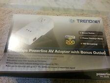 TRENDnet TPL-304E Powerline AV Adapter W/ Bonus Plug Up to 200Mbps