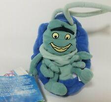 "Vintage Disney A Bugs Life Bean Bag Plush Roll Stuffed Animal 8"" Flea Tick New"