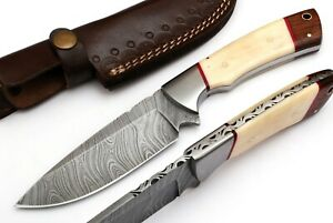 CUSTOM MADE DAMASCUS BLADE HUNTING KNIFE DC-9022