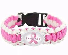 Cancer Fighter Medical Bracelet Badge Survival Paracord Awareness ID Support