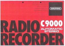 Grundig Bedienungsanleitung für C 9000 automatic in deutsch und englisch