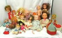 "16 Vintage Dolls Mixed Lot 4.5"" To 8"" Knickerbocker Blue Box Hong Kong Flop Tot"