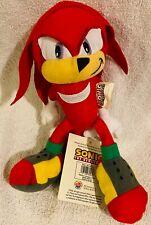 "Sonic The Hedgehog Nanco Classic Knuckles Plush New 9"" Stuffed Animal"